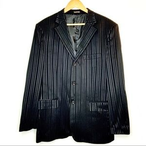 Karter black striped blazer / suit jacket